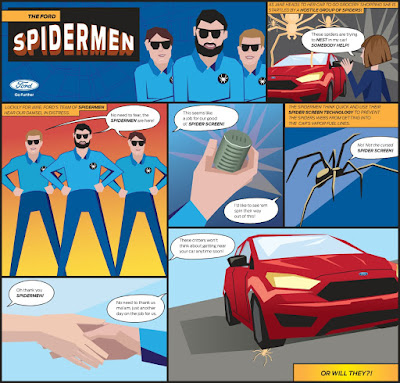 Ford Develops Screen to keep Spiders out of Your Car