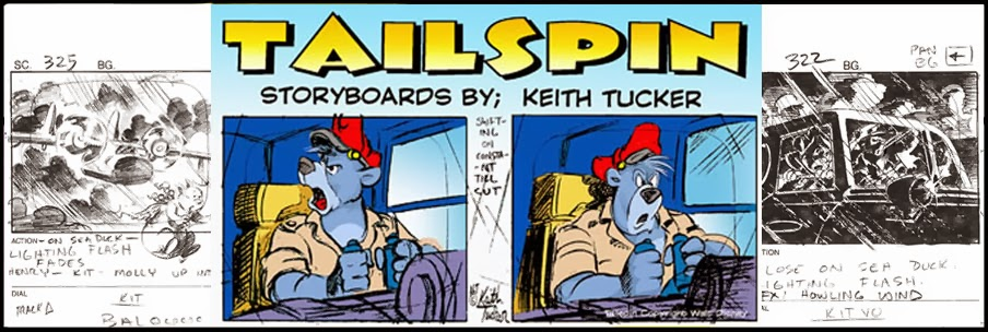 Keith Tucker Eighties Cartoon Storyboards