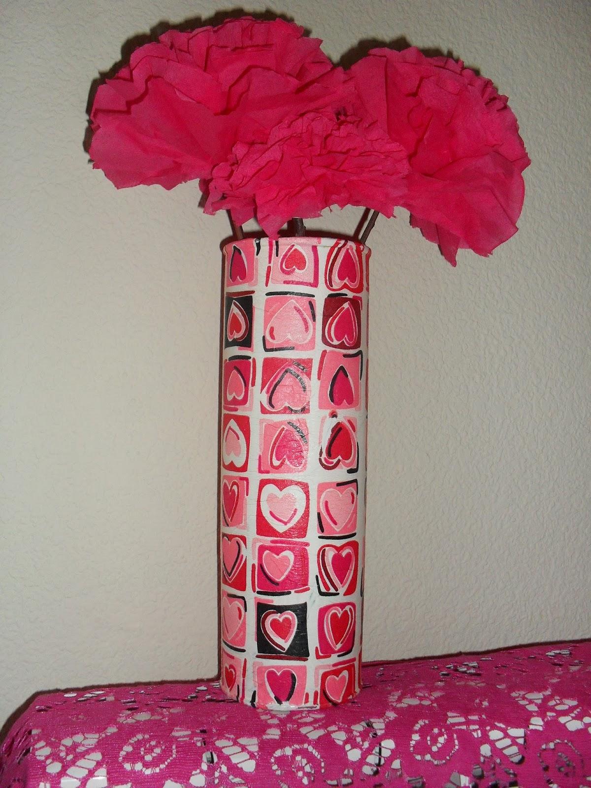 De bote de patatas a jarron para  San Valentin