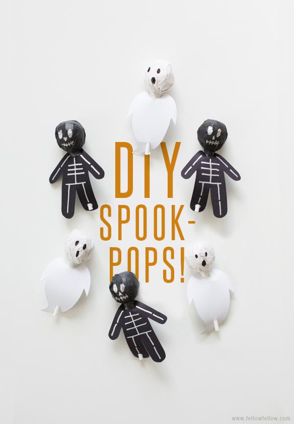 Piruletas de halloween (con imprimible)