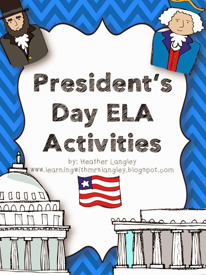 http://www.teacherspayteachers.com/Product/Presidents-Day-ELA-Activities-1101566