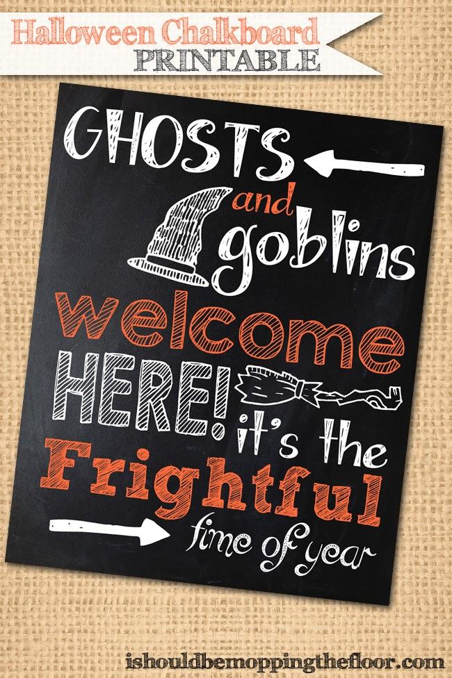 Free Halloween Chalkboard Printable | Instant Download