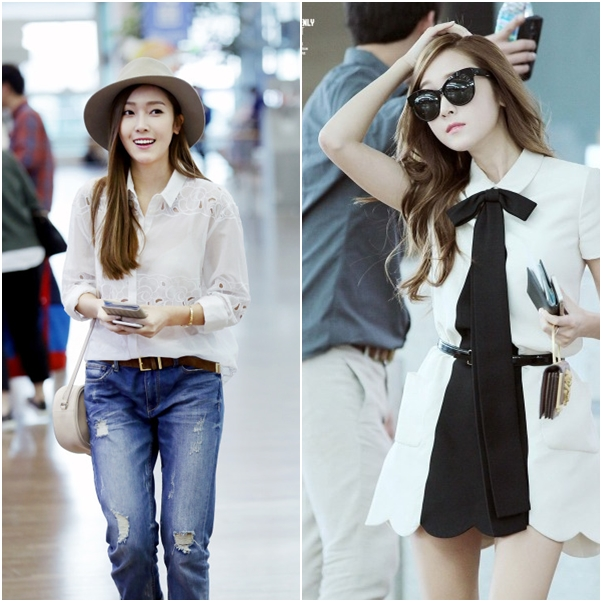 jane from the blog style love jessica jung airport style. Black Bedroom Furniture Sets. Home Design Ideas