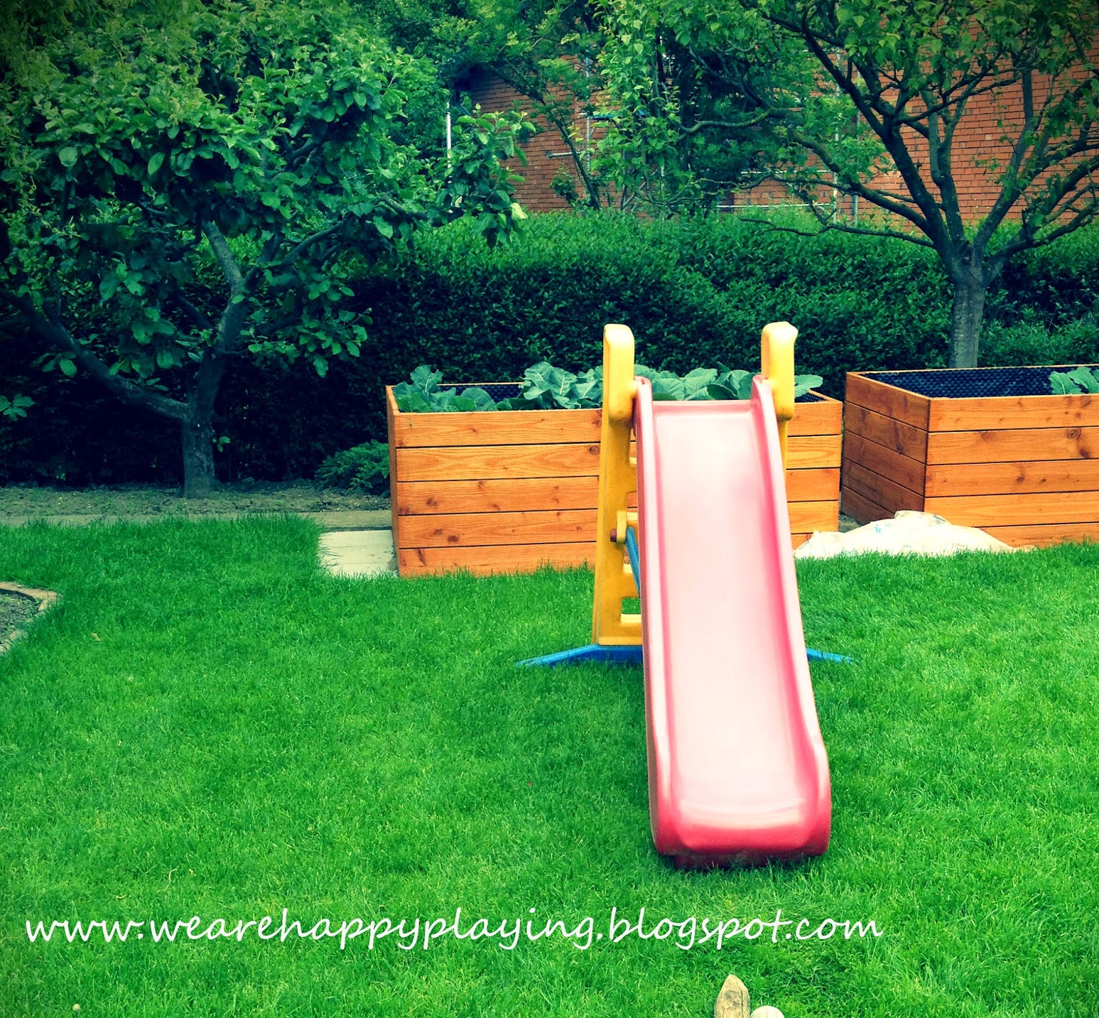 we are happy playing diy backyard obstacle races without spending