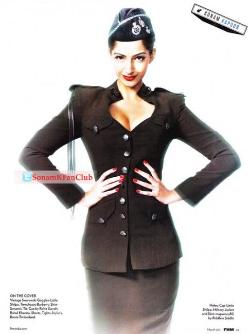 Hot Sonam Kapoor FHM Photoshoot Scans
