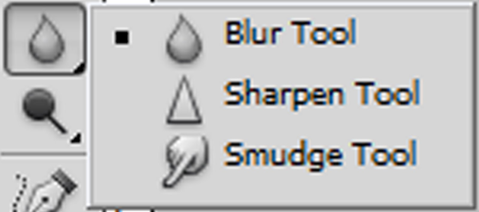 Photoshop how to tools and their uses this is the blur tool which is used to blur parts of your image this is used the same as the paint brush tool click and hold while dragging over the sciox Gallery