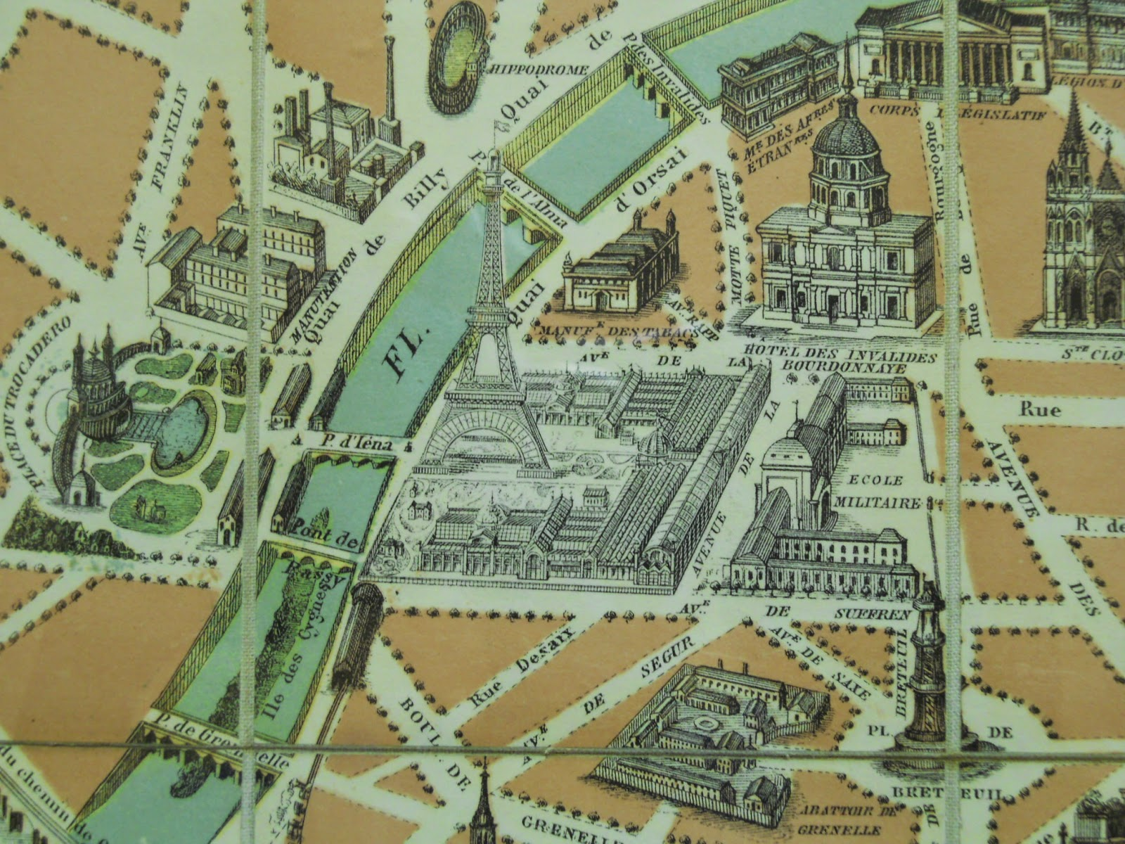 everything about this maps depiction of paris from its boundaries to its railroads places it between 1856 and 1860 except for one