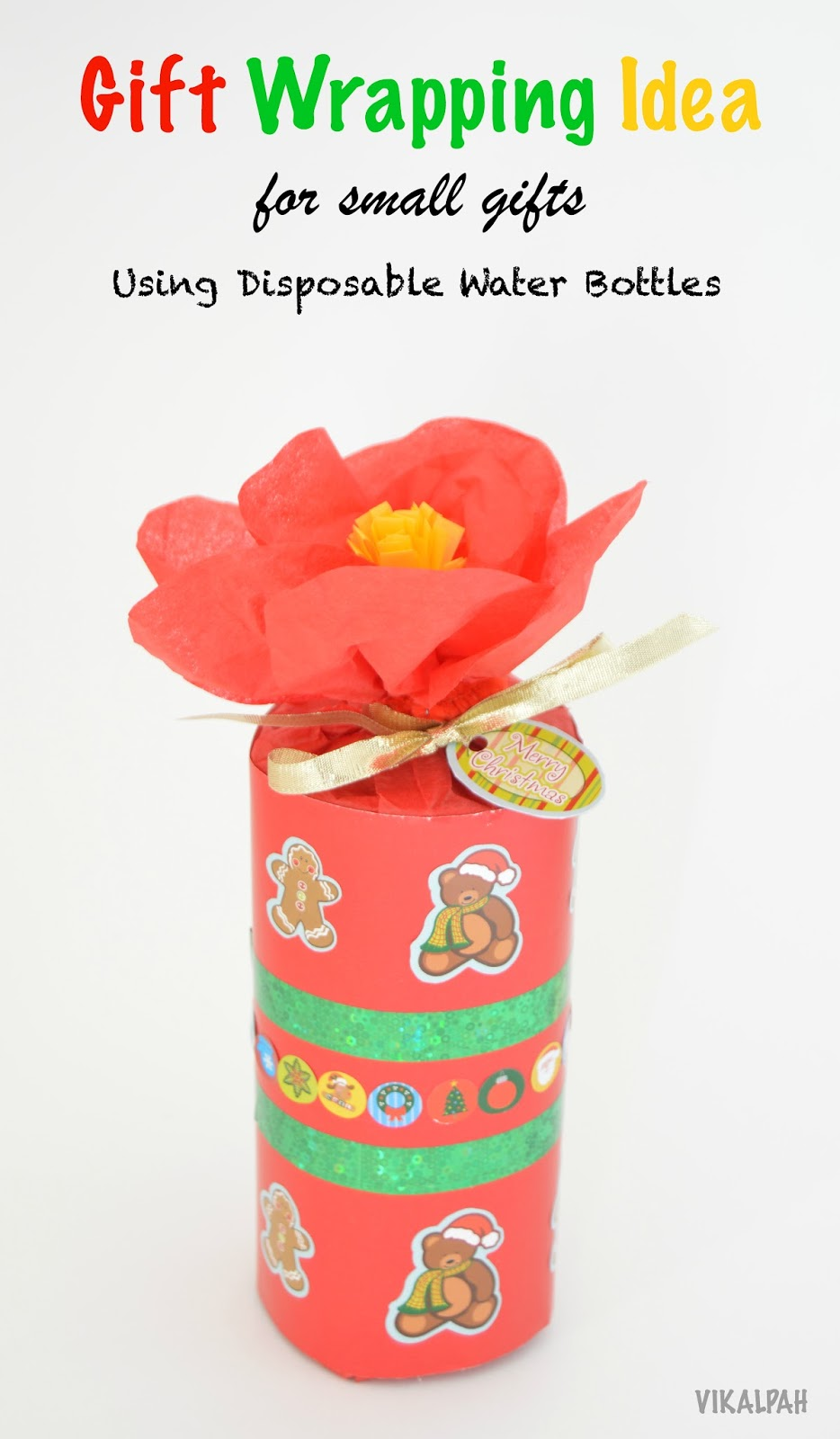 Vikalpah gift wrapping ideas for small gifts using disposable the right size box to put the gift in do you know that a disposable water bottle can do that isnt it a nice way to re use them lets see how negle Choice Image