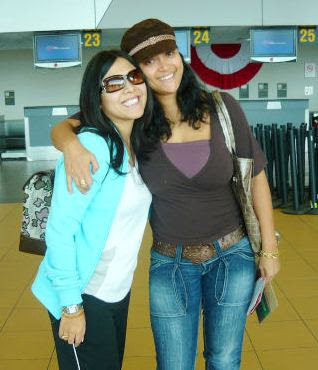 Tula Rodríguez junto a su amiga Mariella Zanetti