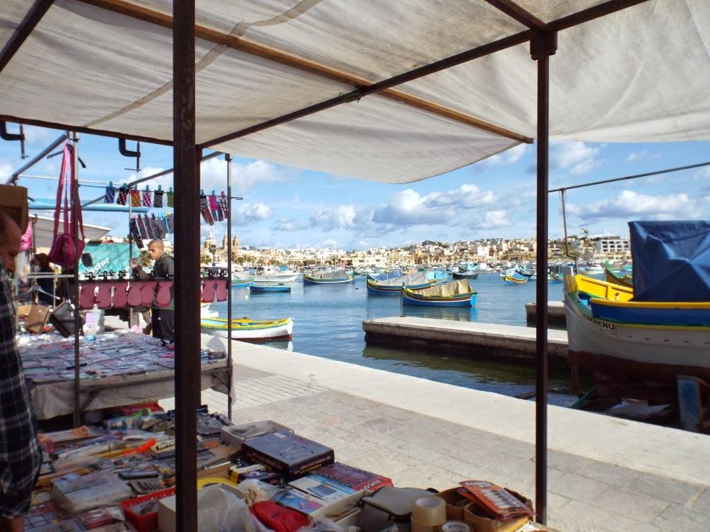 Marsaxlokk Sunday Market, Malta - photo by Katie @ Second-Hand Hedgehog travel blog