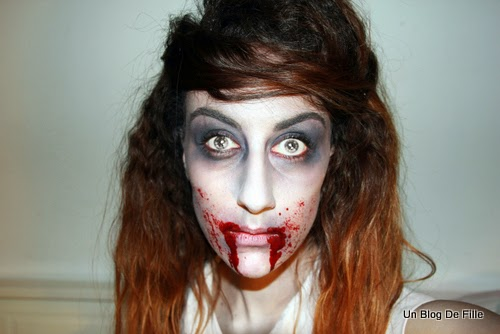 un blog de fille halloween makeup zombie walking dead. Black Bedroom Furniture Sets. Home Design Ideas