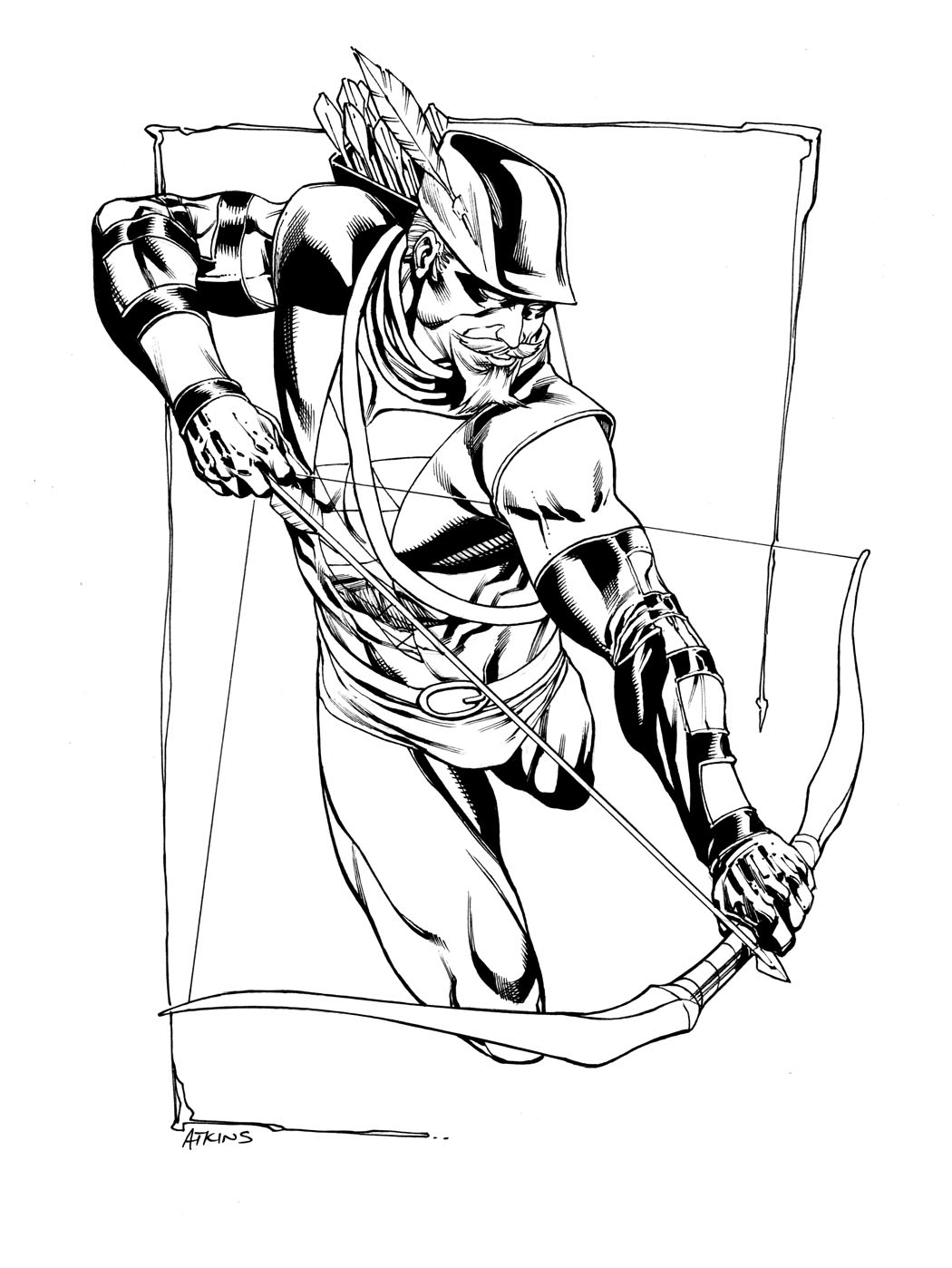 Robert Atkins Art JLA Green Arrow