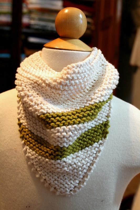 Created Blissfully Knit Bandana Bib
