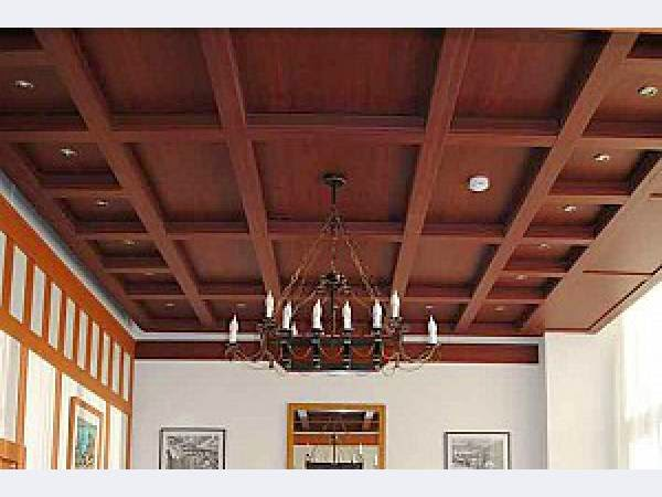 14 Gypsum False Ceiling Design With Wooden Decorations For Living Room 2015