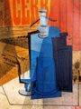 Emilio Pettoruti (23) - El sifón (collage sobre cartón, 1915)