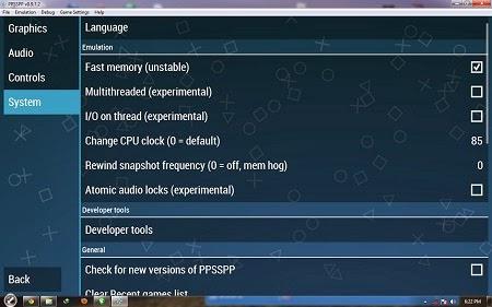 Cara Mengatasi PPSSPP Force Close For Windows
