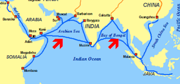 NephiCode Ancient Arab Sea Traders Part I - Ocean sea map