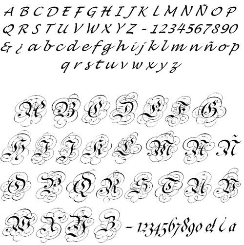Letras Para Tatuajes Diferentes Diseños Y Estilos De: Tatuajes, Piercings, Bodyart