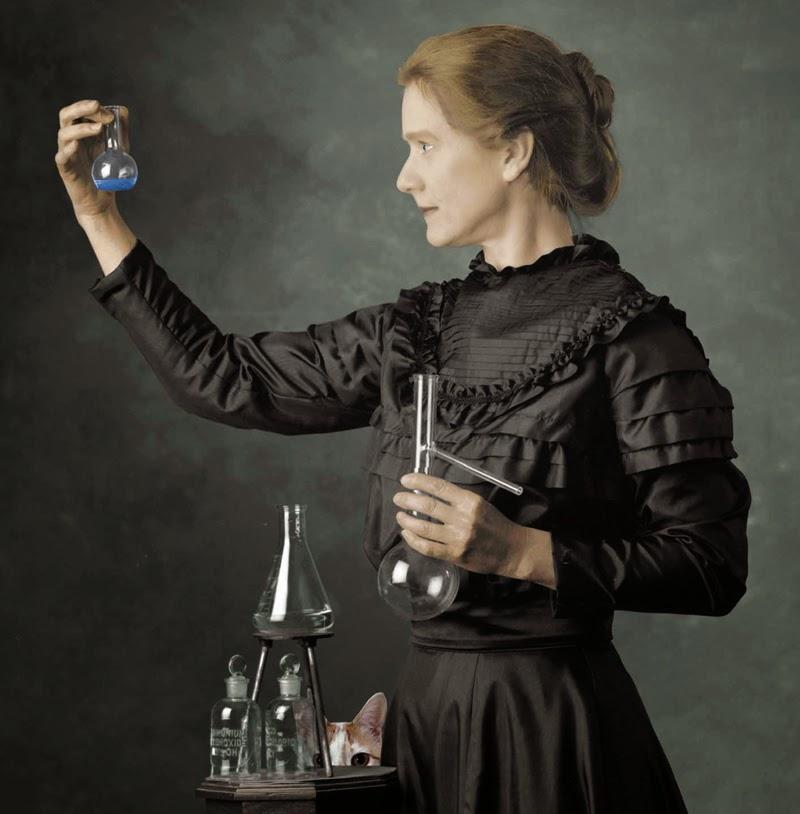 Marie Curie radioactivity radium polonium Chloe cat science cosmos Josef Spalenka