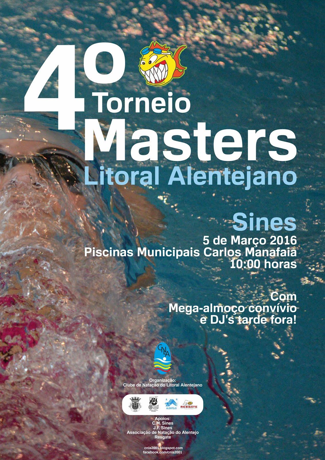 4º Torneio de Masters do Litoral Alentejano