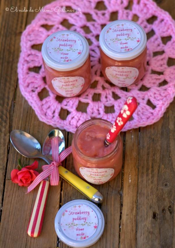 pudding de fresas