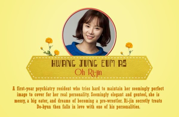 Hwang Jung-eum  As Oh Ri-jin