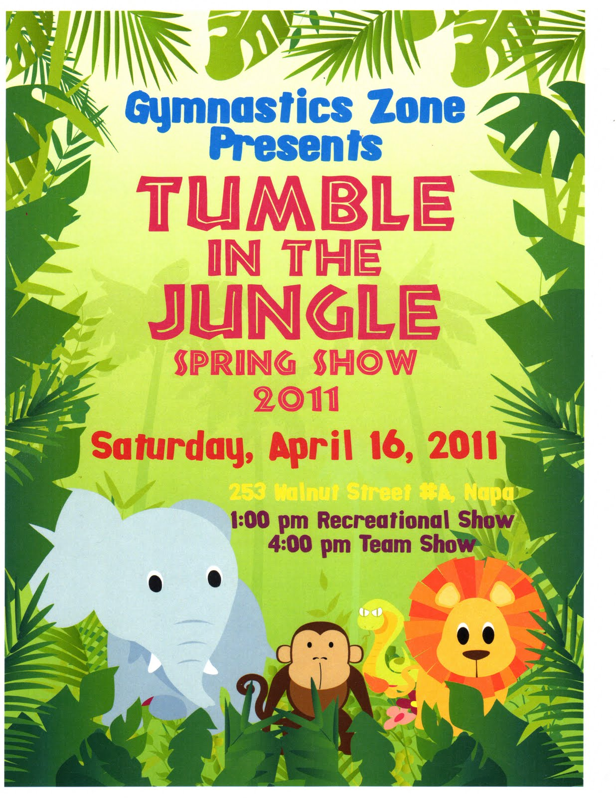 tumble in the jungle gymnastics meet 2011