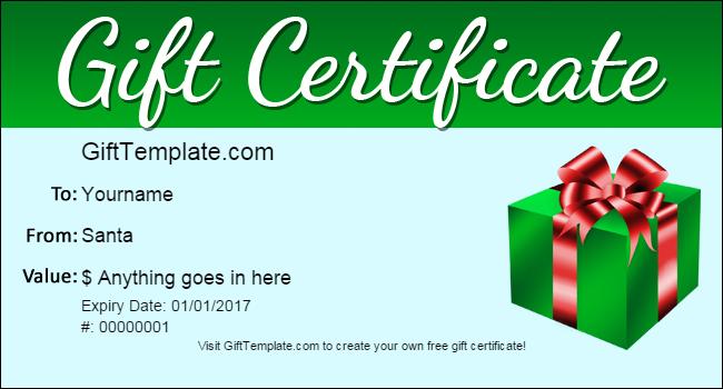 Ubuntu Corner – Santa Gift Certificate Template