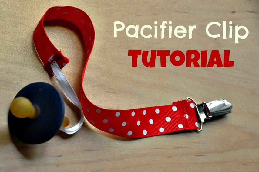 Pacifier Clip Tutorial @ The Crafeteria