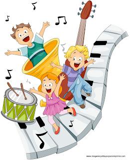 Niños cantando para imprimir