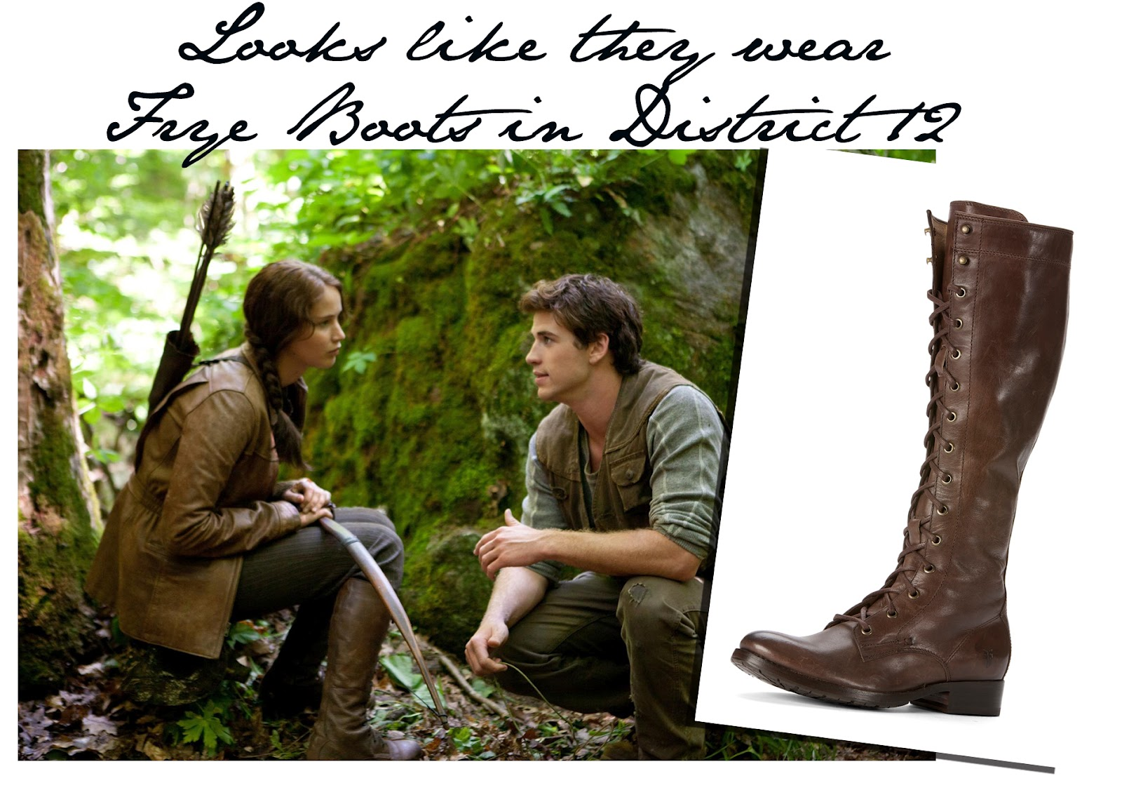 katniss everdeen wears frye boots when hunting hunger games fans will be pleased to hear that it s pretty easy to replicate katniss everdeen s footwear from the movie we ve already heard alexander