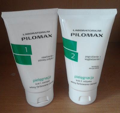 Recenzja odżywki i szamponu Pilomax do włosów farbowanych ciemnych