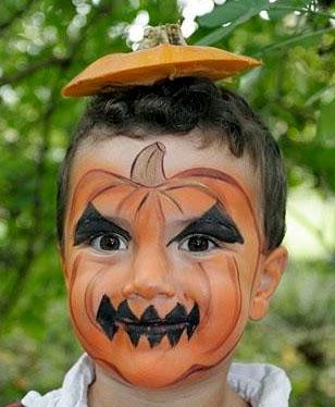 Halloween, Caras Pintadas, Calabazas
