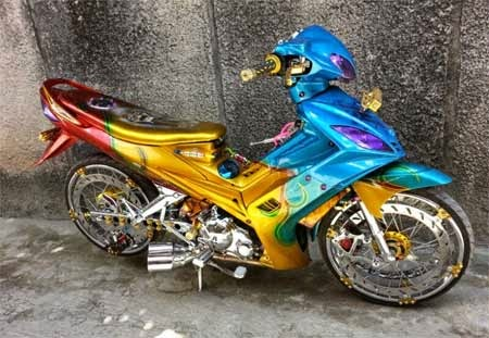 modifikasi Jupiter MX ala drag
