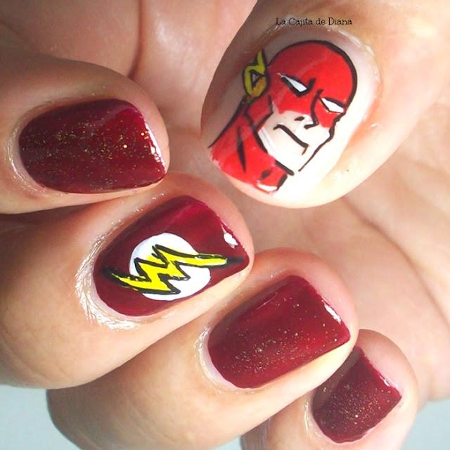 flash-comic-nailart
