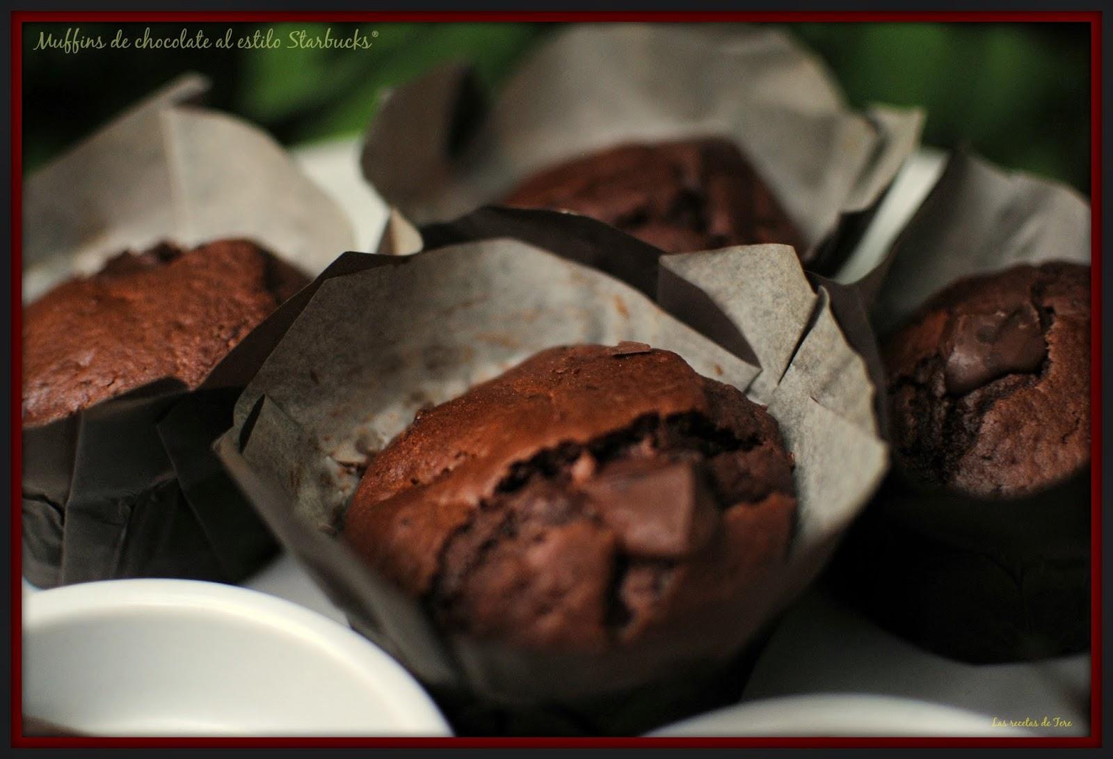 muffins de chocolate al estilo starbucks 01