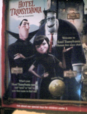 Side one of Hotel Transylvania Happy Meal box