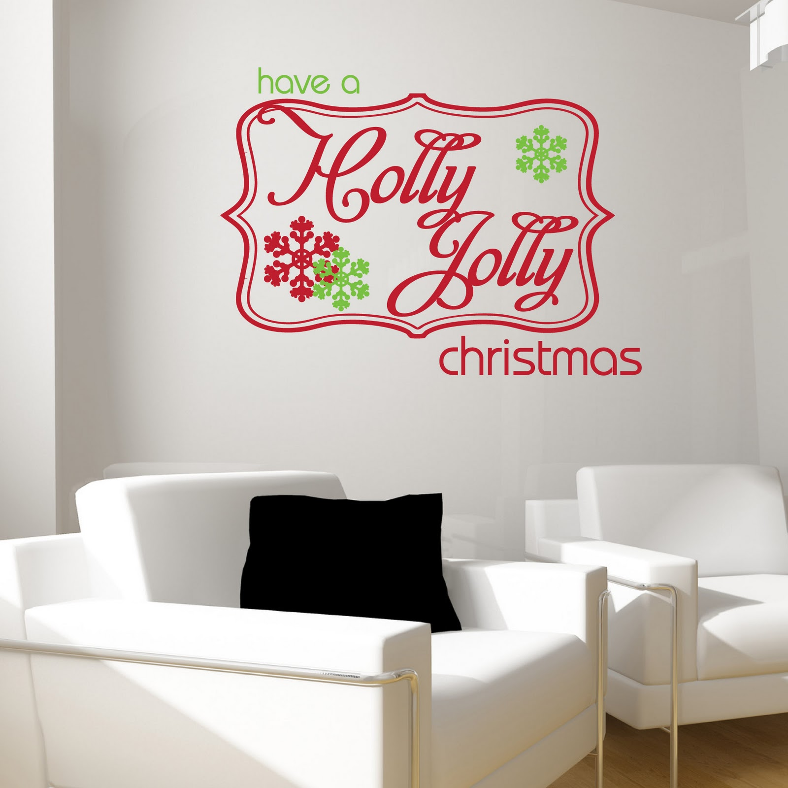 Janey mac christmas wall decals holly jolly