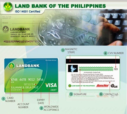 Card Number on a Debit Card Landbank Atm Debit Visa Card
