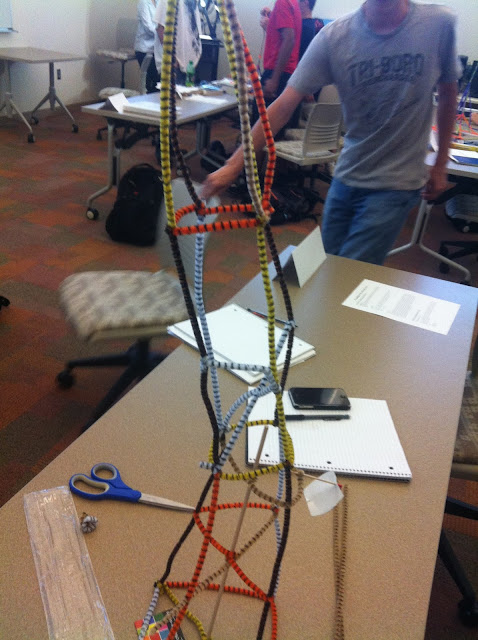 how to make a pipe cleaner tower