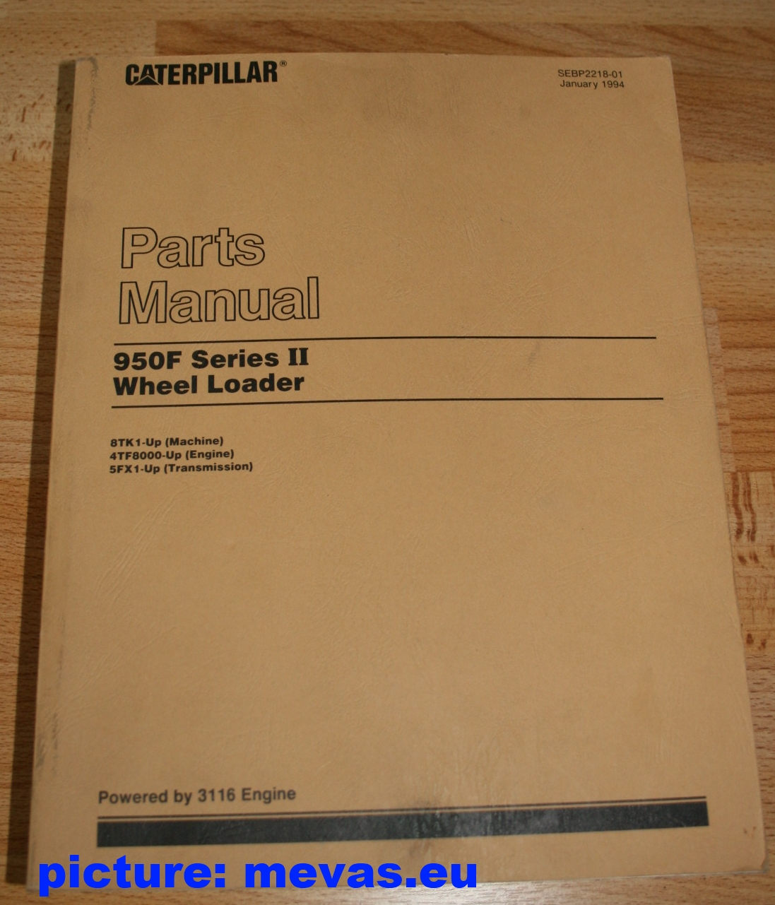 caterpillar 950f series ii wheel loader parts manual for sale