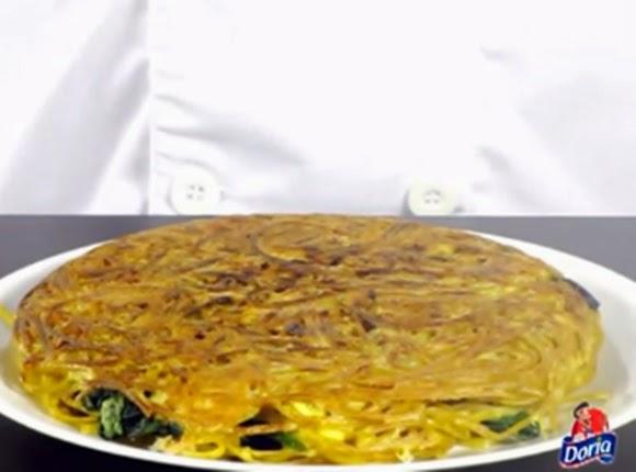 Torta De Espaguetis Y Espinaca