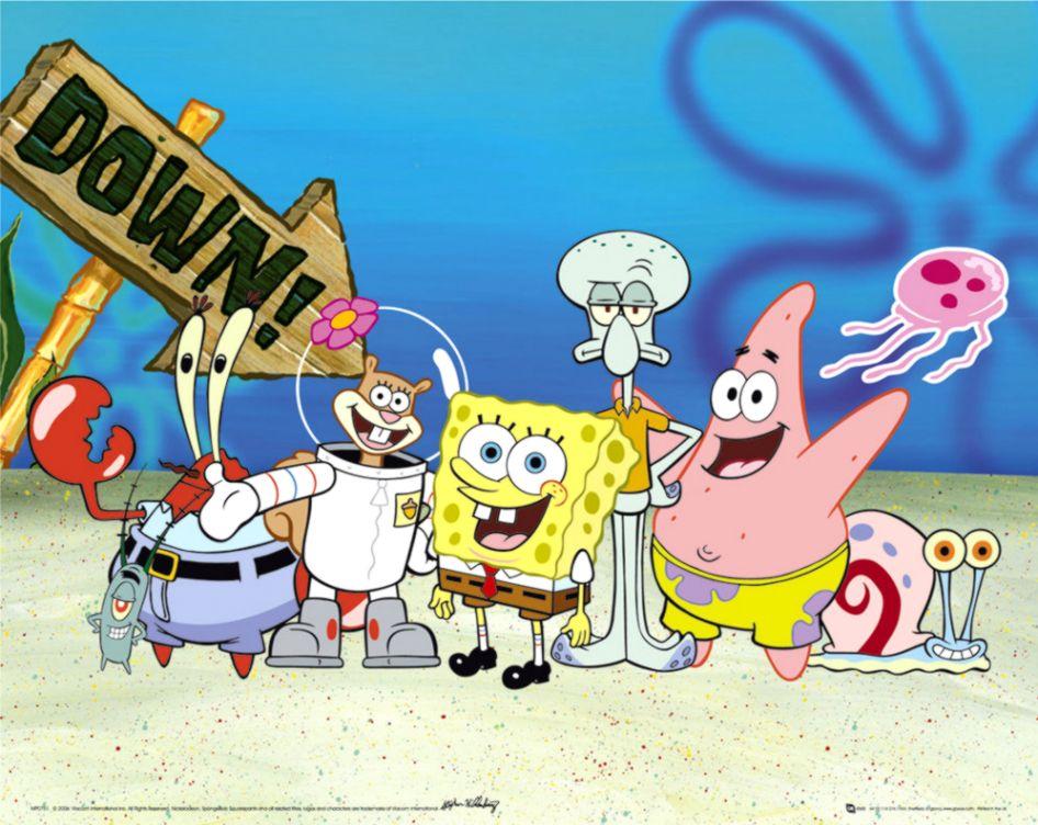 Spongebob Squarepants Characters Wallpaper Image Wallpaper Collections