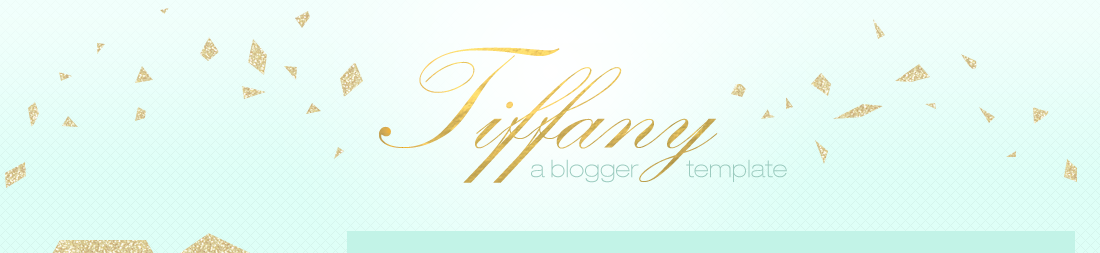 Tiffany : Envye Premade Blogger Template