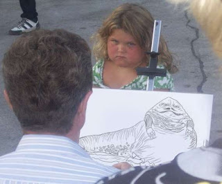 funny jabba the hutt little girl