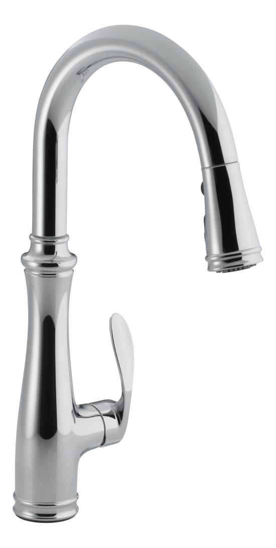 the kohler faucet lists for under 300 in chrome brushed nickel and