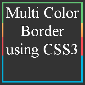 Multi Color Border using CSS3