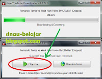 Proses di Free Youtube Downloader