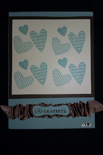 I Heart Hearts, decorative label punch, chocolate chip satin ribbon, rhinestones