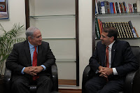 Binyamin Netanyahu and Daniel Shapiro